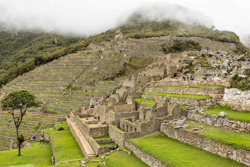Inca City de Machu Picchu imagem de stock