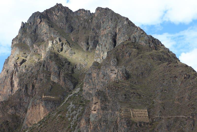 Inca City Ollantaytambo anziano nel Perù immagine stock libera da diritti