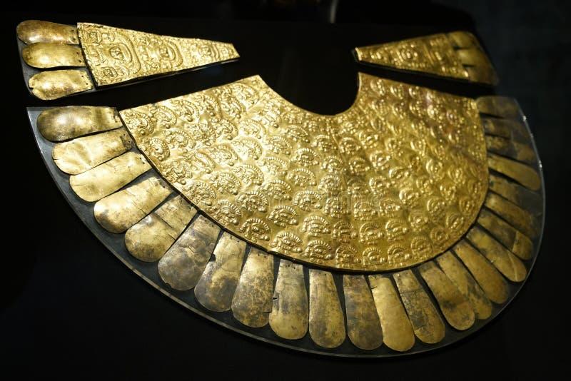 Inca exhibits in Lima, Peru stock image