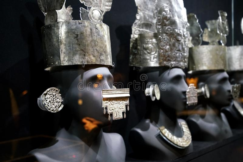 Inca exhibits in Lima, Peru royalty free stock image