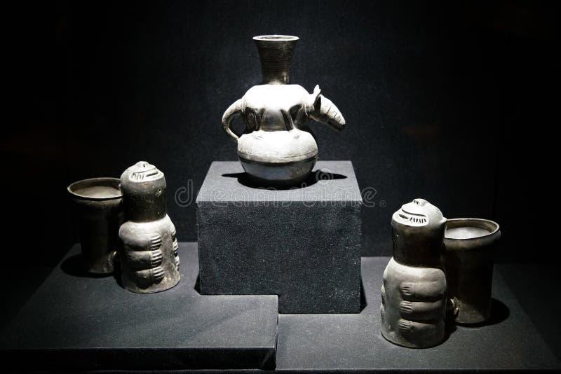 Inca exhibits in Lima, Peru royalty free stock photos