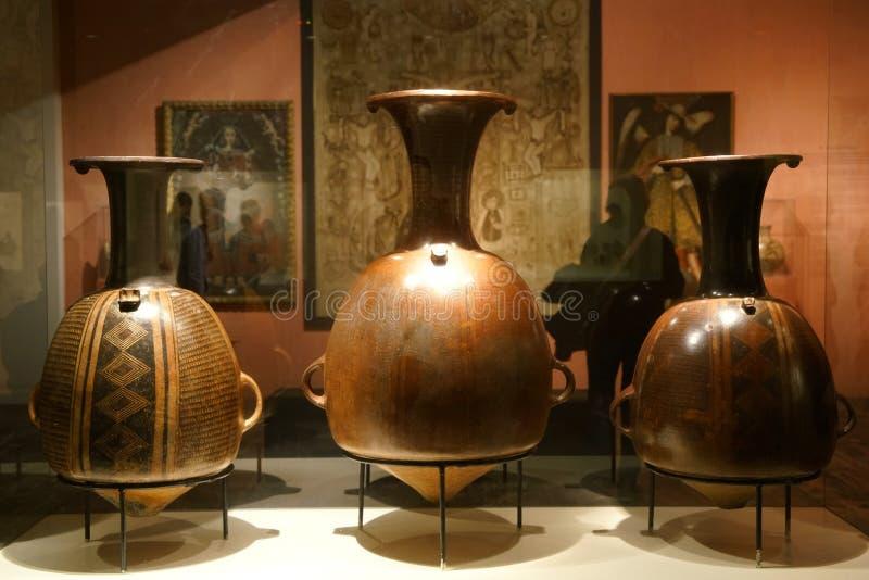 Inca exhibits in Lima, Peru stock photo