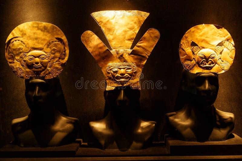 Inca gold manufactures, handmade, Peru stock photography