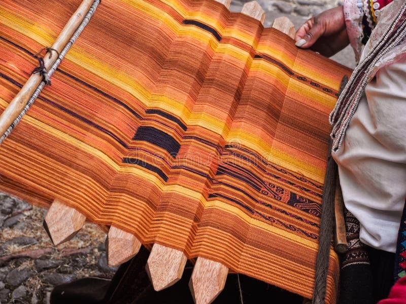 Inca handmade textile royalty free stock photo