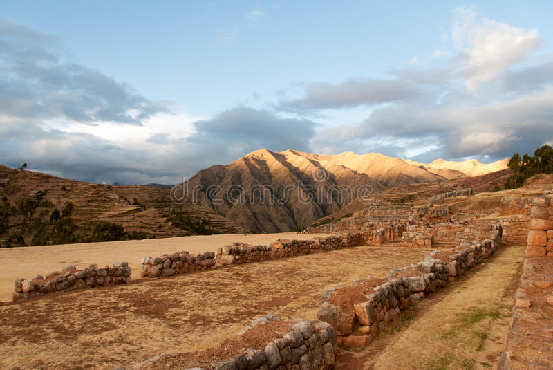 Inca Palace fördärvar i Chinchero, Cuzco, Peru royaltyfri fotografi