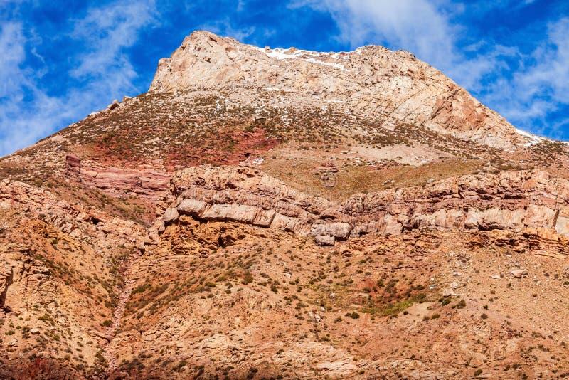 Inca& x27 ; pont de s près de Mendoza photographie stock libre de droits