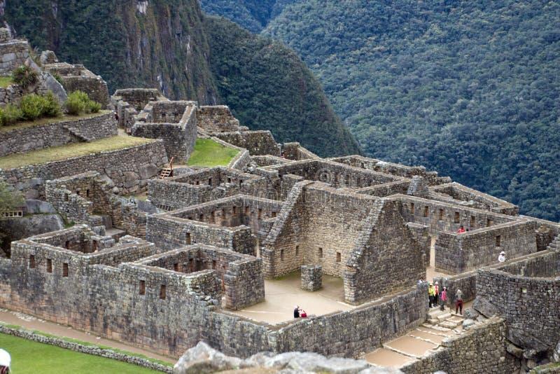 Inca Ruins antigo em Machu Picchu, Peru fotos de stock