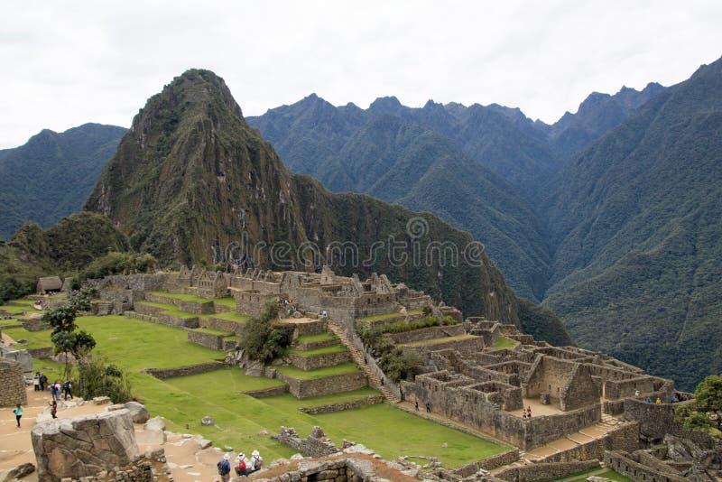 Inca Ruins antigo em Machu Picchu, Peru imagens de stock