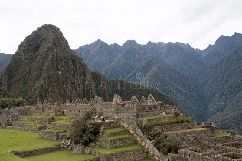 Inca Ruins antigo em Machu Picchu, Peru imagens de stock royalty free