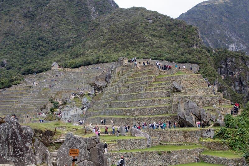 Inca Ruins antigo em Machu Picchu, Peru fotos de stock royalty free