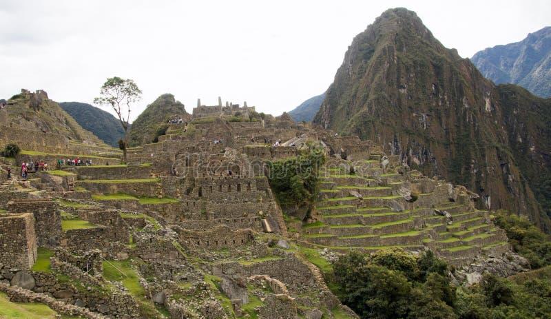 Inca Ruins antigo em Machu Picchu, Peru fotografia de stock royalty free
