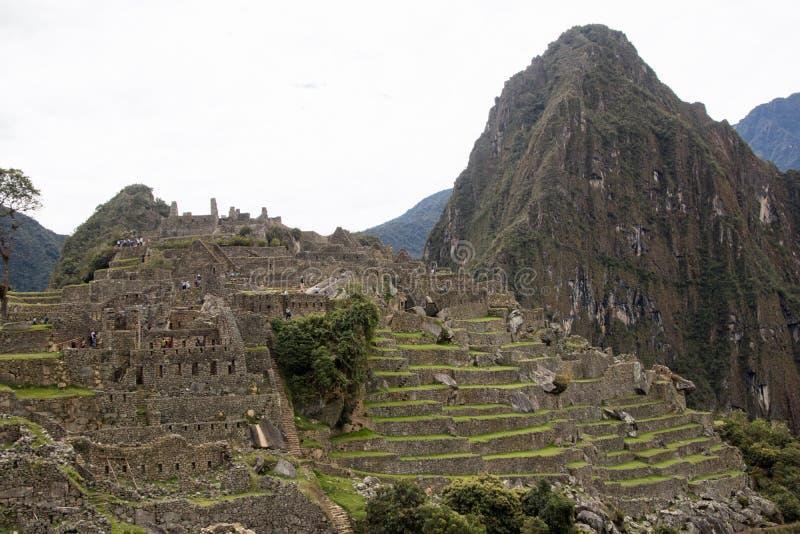 Inca Ruins antigo em Machu Picchu, Peru imagem de stock royalty free