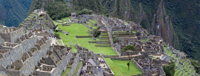 Inca Ruins antigo em Machu Picchu, Peru foto de stock