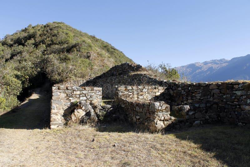 Inca ruins of Choquequirao, Peru. stock image