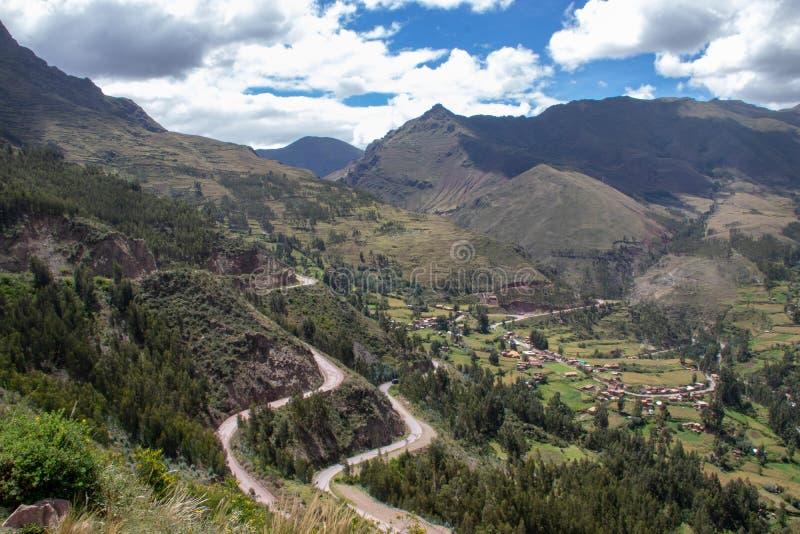 Inca Ruins dans Pisac image libre de droits