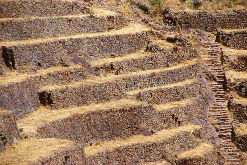 Download Inca Stone Walls And Terraced Fields Royalty Free Stock Images - Image: 6912279