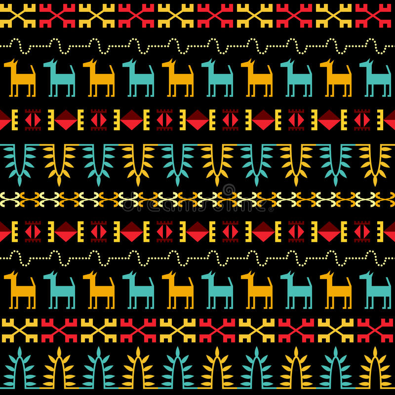 Inca Style Seamless Pattern libre illustration