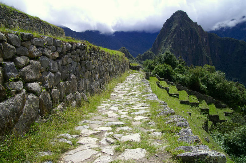 Inca Trail fotografia stock