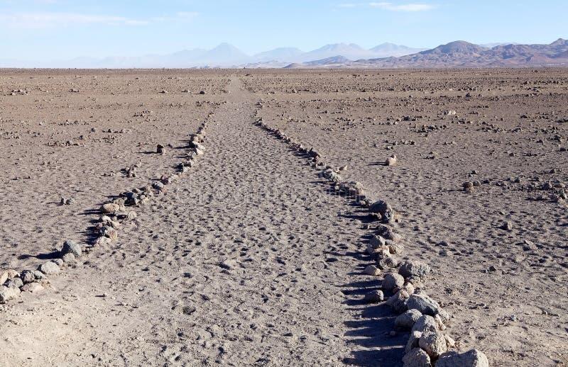Inca Trail chileno no deserto de Atacama, o Chile fotos de stock royalty free