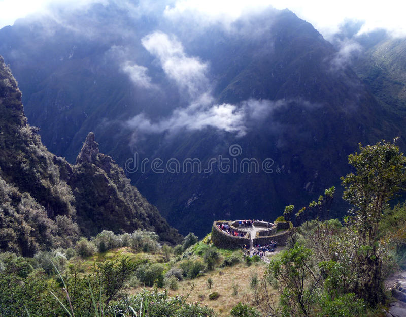 Inca Trail a Machu Picchu, Peru imagem de stock royalty free