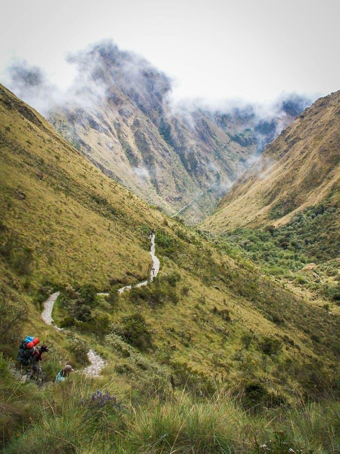 Inca Trail Path images libres de droits