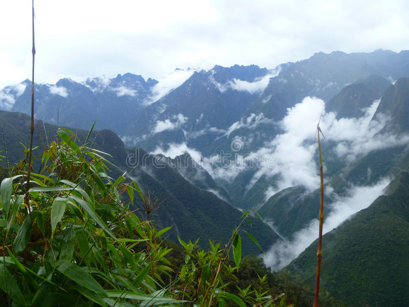 Inca trail, Peru. Inca trail to Machu Picchu, Peru royalty free stock photos
