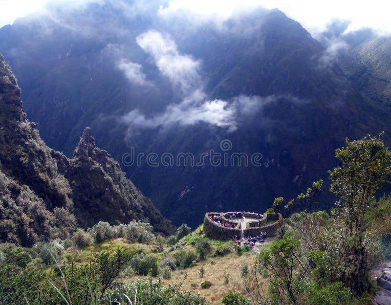 Inca Trail zu Machu Picchu, Peru lizenzfreies stockbild