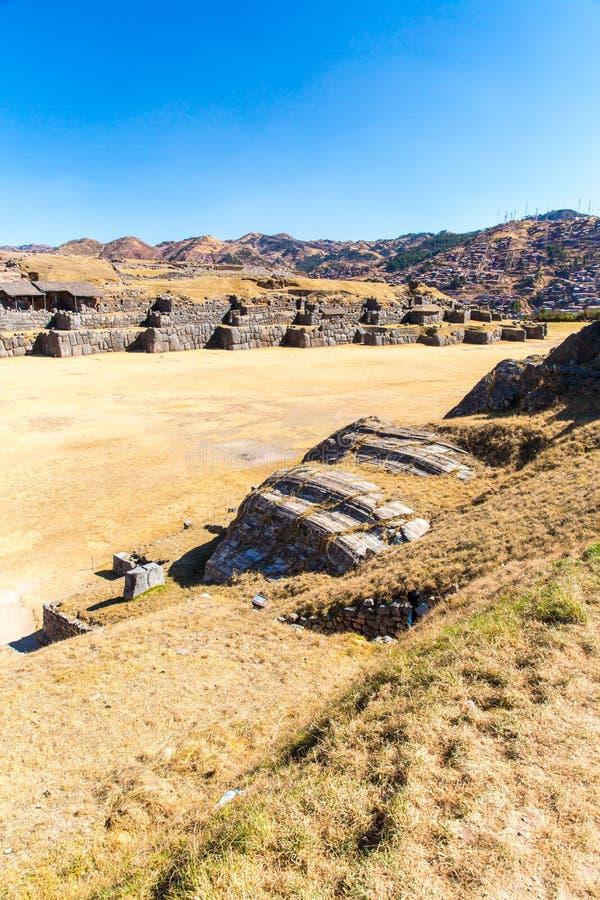 Inca Wall en SAQSAYWAMAN, Perú, Suramérica imagen de archivo