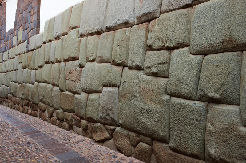 Inca wall stock photo image