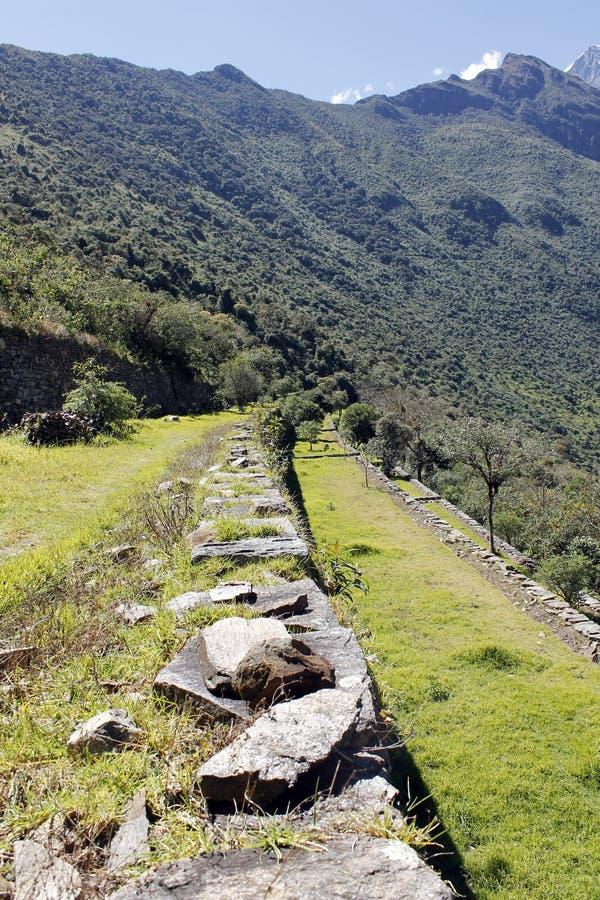 Incaen fördärvar av Choquequirao. arkivbild