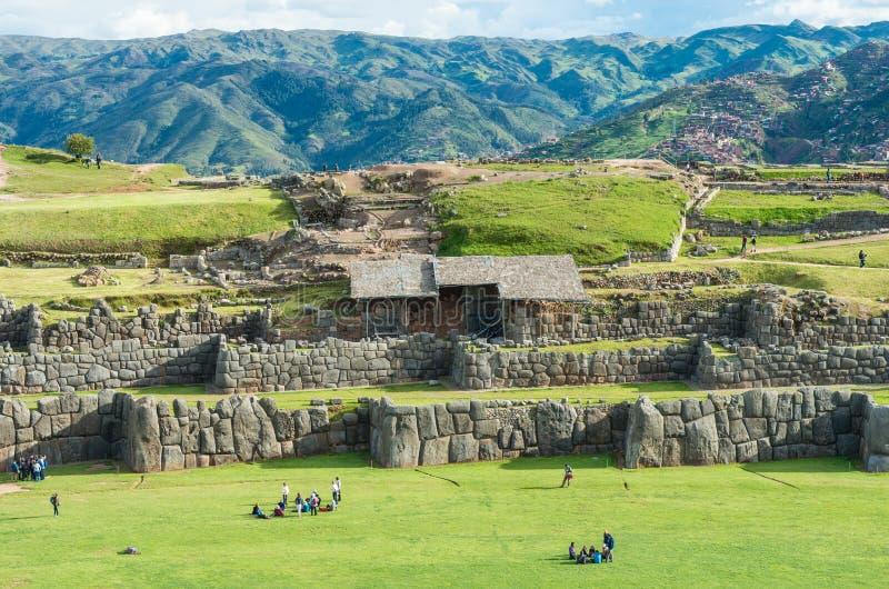 Incaen fördärvar i Cusco, Peru royaltyfri fotografi