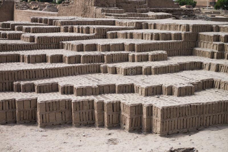 Incaen fördärvar texturbakgrund, Lima, Peru royaltyfri bild