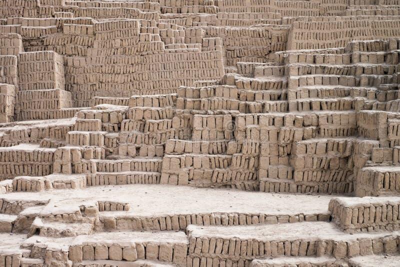 Incaen fördärvar texturbakgrund, Lima, Peru royaltyfri foto