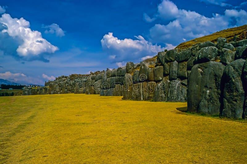 incaen peru fördärvar arkivbild