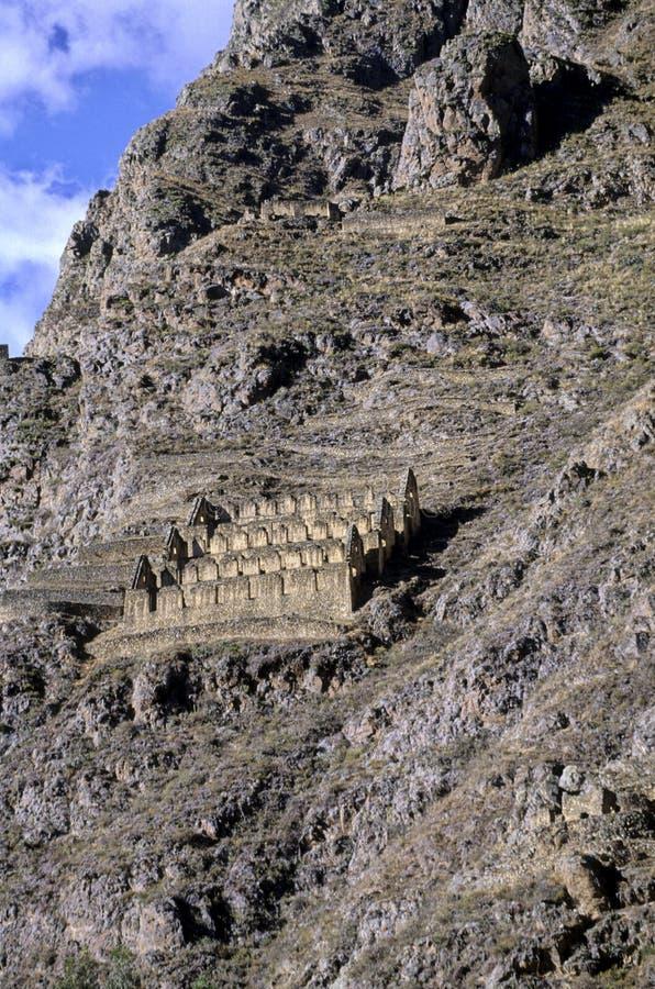 Incan ruïneert Heilige Vallei, Peru stock foto's
