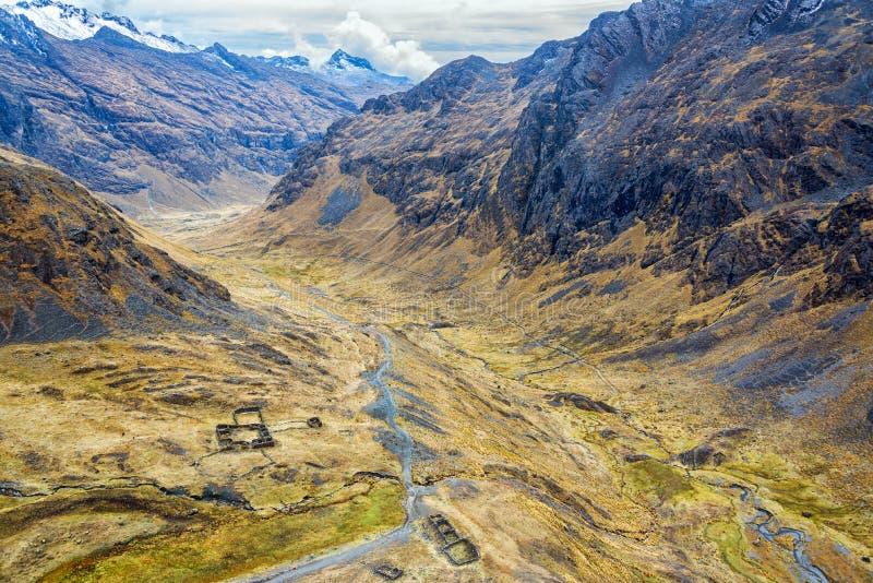 Incan ruiny w dolinie obrazy royalty free