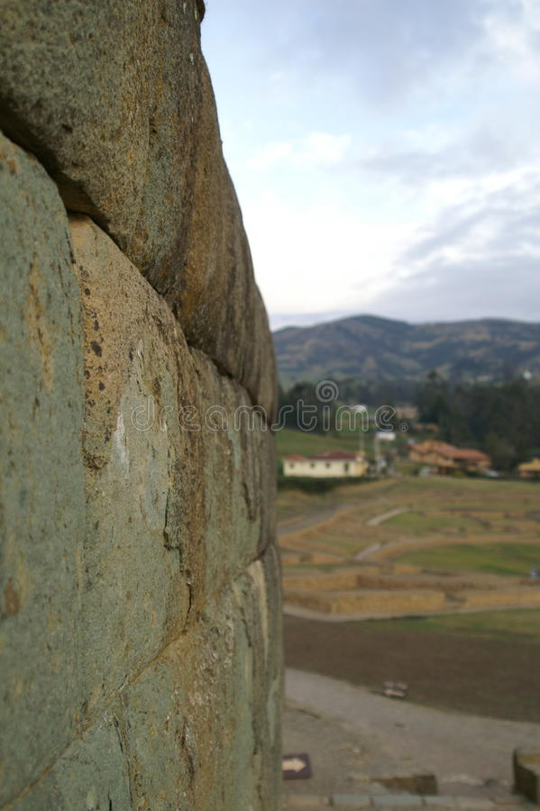Incan Sun Temple & x28;focused exactly as intended& x29; stock photography