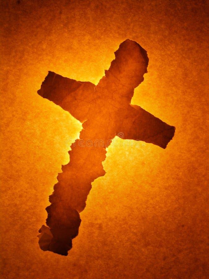 Incandescência de papel da cruz ilustração do vetor