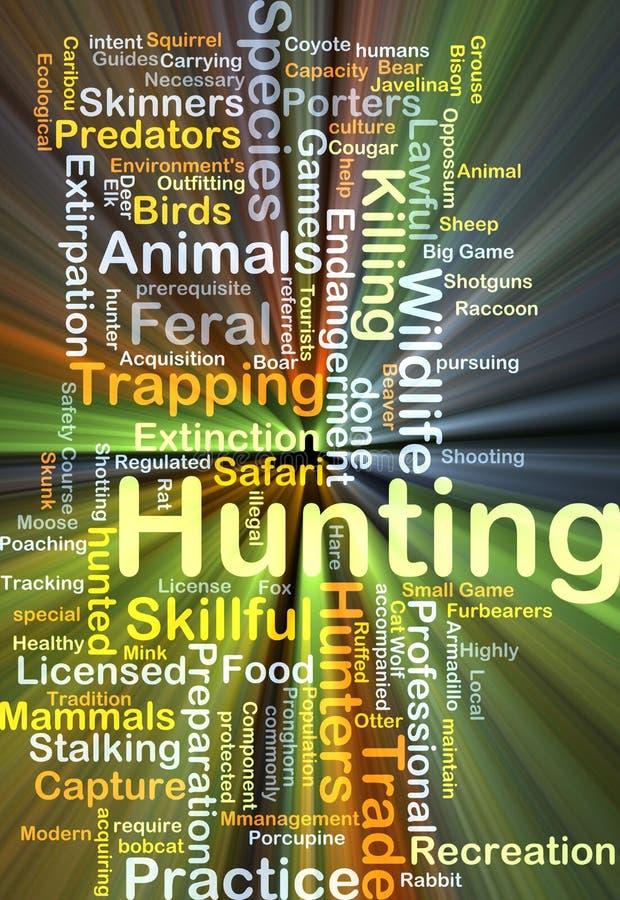 Incandescência do conceito do fundo da caça ilustração stock