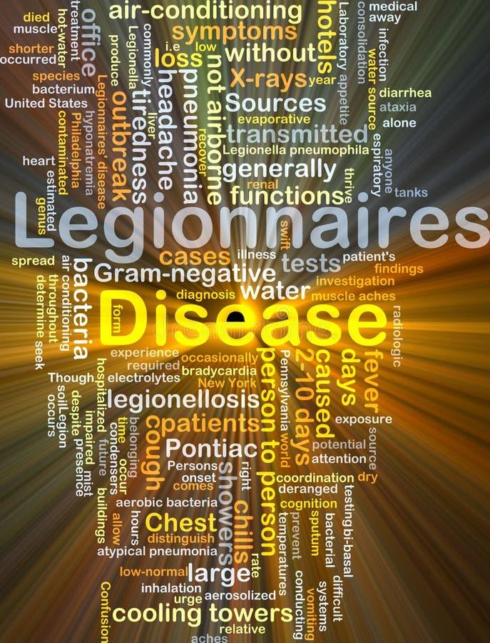 Incandescência do conceito do fundo da doença de Legionnaires' ilustração do vetor