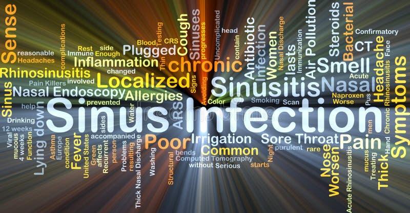 Incandescência do conceito do fundo da infecção da cavidade ilustração stock