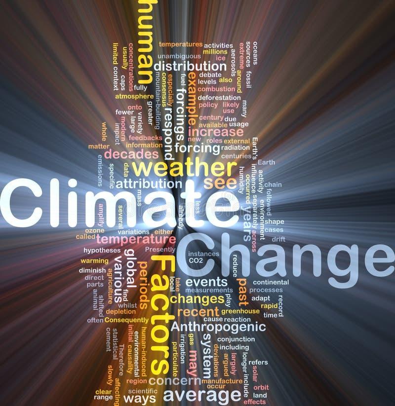 Incandescência do conceito do fundo da mudança de clima ilustração do vetor