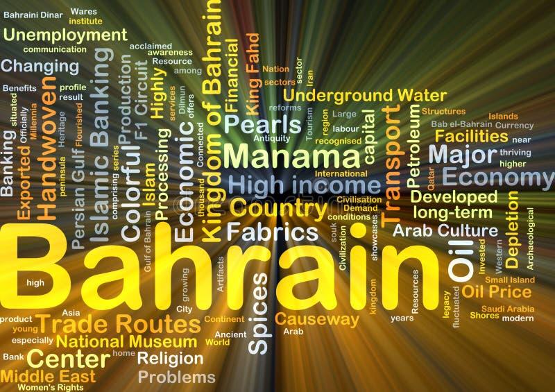 Incandescência do conceito do fundo de Barém ilustração do vetor