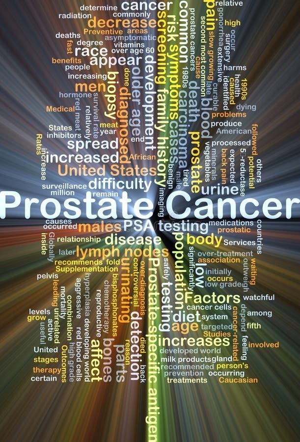 Incandescência do conceito do fundo do câncer da próstata ilustração royalty free