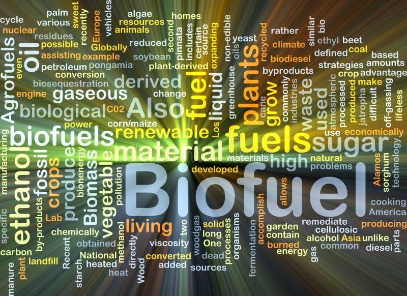 Incandescência do conceito do fundo do combustível do combustível biológico ilustração do vetor
