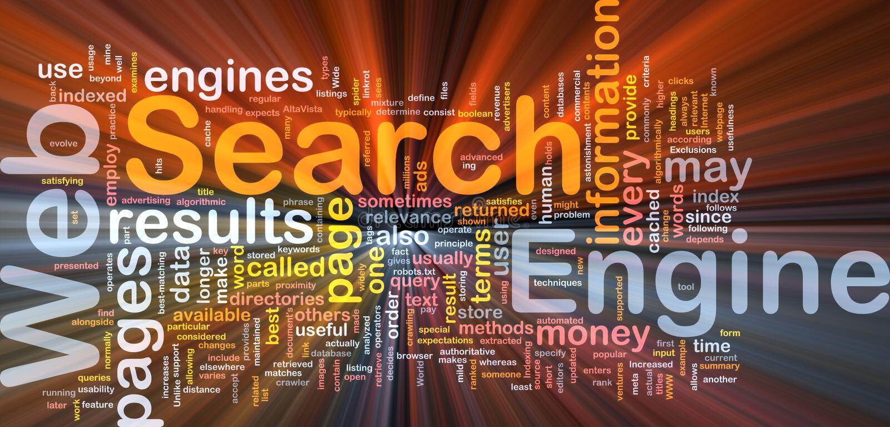 Incandescência do conceito do fundo do Search Engine ilustração do vetor