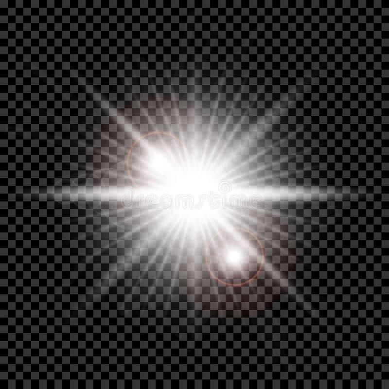 A incandesc?ncia branca clara explode ilustração do vetor