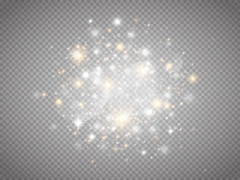 Incandesce o efeito da luz mágico ilustração royalty free