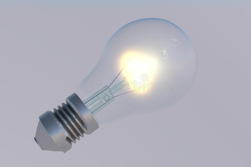 Incandescent bulb made in 3d royalty free stock image