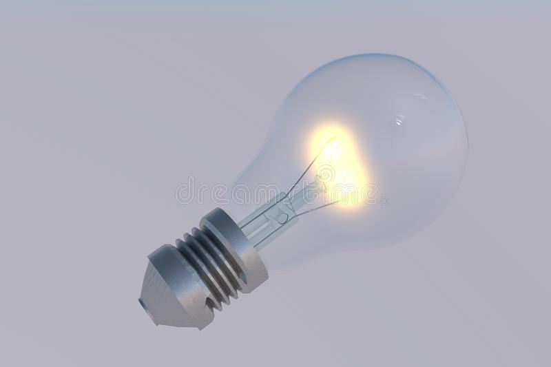 Incandescent bulb made in 3d royalty free stock photography